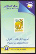 ARGELIA 2003 Folder Official Document Notice Brochure Union Africaine - African Union Flags Bougie Candle Candela Vela