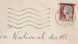 EA Sur DECARIS, PERREGAUX Oran Algérie. REPUBLIQUE Non Barrée. Enveloppe Du 18/10/1962. - Algérie (1962-...)