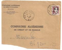 EA Sur DECARIS, LE TELAGH Oran Algérie. Devant D'Enveloppe Du 5/10/1962. - Algérie (1962-...)