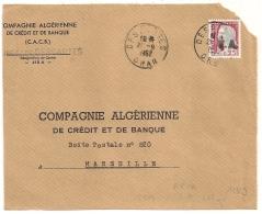 EA Sur DECARIS, DESCARTES Oran Algérie. RF Non Barré. Devant D'Enveloppe Du 21/9/1962. - Algérie (1962-...)
