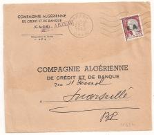 EA Sur DECARIS, ARZEW Oran Algérie. RF Barré. Devant D'Enveloppe Du 23/8/1962. - Algérie (1962-...)