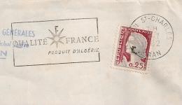 EA (A Faible) Sur DECARIS. ORAN ST CHARLES Oran Algérie. RF Non Barré. Enveloppe Du 16/7/1962. - Algérie (1962-...)