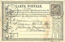 Cpa Précurseur LEVIER 25 à Orléans, 1877, Cachet Louis FONTAINE à Levier - Autres Communes