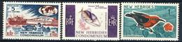 New Hebrides 1966 Serie N. 242-244 MNH Cat. € 6.50 - English Legend