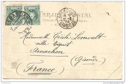 ESPAGNE CARTE DE SAN SEBASTIAN POUR LA FRANCE DU 19/2/1904 - Marcofilia - EMA ( Maquina De Huellas A Franquear)