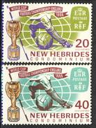 New Hebrides 1966 Serie N. 237-238 MNH Cat. € 4 - Leggenda Inglese