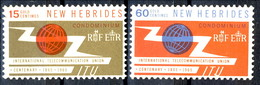 New Hebrides 1965 Serie N. 213-214 MNH Cat. € 6 - English Legend