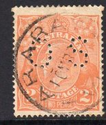 Australia 1918-23 2d Brown-orange GV Head Official, Wmk. 5, Punctured OS, Used, (SG O71)