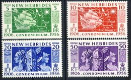 New Hebrides 1956 Serie N. 171-174 MNH Cat. € 8 - English Legend