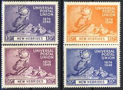 New Hebrides 1949 - 50 Serie N. 140-143 MNH Cat. € 10 - Leggenda Inglese