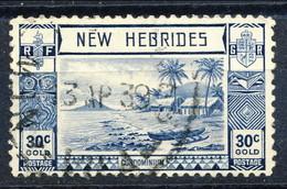 New Hebrides 1938 N. 117 C. 30 Blu Usato Cat. € 3.70 - English Legend