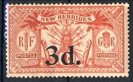 New Hebrides 1924 N. 78 D. 3 Su P. 1  MH Cat. € 9 - English Legend