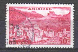 Andorra French 1955 Mi 156 Cancelled