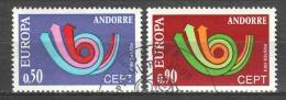 Andorra French 1973 Mi 247-248 Canceled EUROPA CEPT (1)