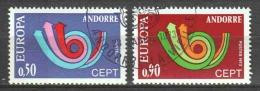 Andorra French 1973 Mi 247-248 Canceled EUROPA CEPT (2)