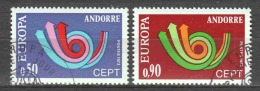 Andorra French 1973 Mi 247-248 Canceled EUROPA CEPT (3)