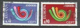 Andorra French 1973 Mi 247-248 Canceled EUROPA CEPT (4)
