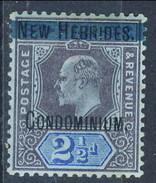 New Hebrides 1908-09 N. 8 P. 2-1/2  MLH Cat. € 9 - Ongebruikt