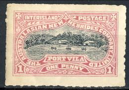 New Hebrides 1897 Servizio Postale Interno (Inter Island) P. 1 E P. 2 MLH € 34 - English Legend
