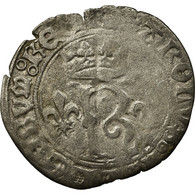 Monnaie, France, Charles VIII, Karolus Or Dizain, Poitiers, TB, Billon - 987-1789 Monnaies Royales