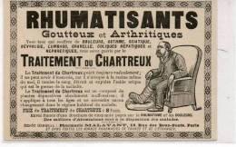 Rhumatisants Goutteux Et Arthritiques Traitement Du Chartreux - Publicité