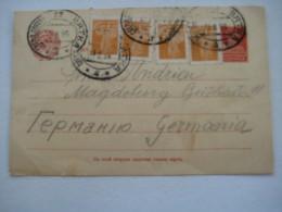 1926 , Ganzsache Verschickt Mit Bahnpost Stempel Nach Deutschland