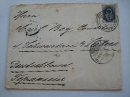 1903 , Nummern Stempel  Auf Brief Nach Deutschland - 1857-1916 Empire