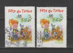 FRANCE / 2002 / Y&T N° 3467/3467a : Fête Du Timbre (Boule & Bill) De Feuillet Carnet (sans Bord) - Choisis - Cachet Rond - Frankreich