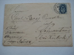 1894 ,  Stempel  Auf Brief Nach Deutschland - 1857-1916 Imperium