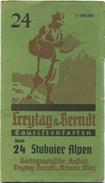 Österreich - Touristenkarten Blatt 24 Stubaier Alpen - 1:100 000 - 58cm X 67cm - Kartographische Anstalt Freytag - Landkarten