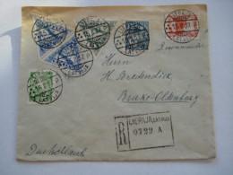 1937 , Einschreiben   Nach Deutschland - Lettland