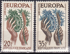 Série De 2 Timbres-poste Neufs** - Europa - N° 1122-1123 (Yvert) - France 1957 - France
