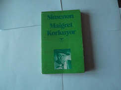 Simenon      Maigret A Peur     Korkuyor    En Turc   1953 - Books, Magazines, Comics