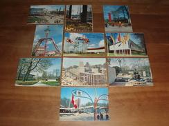 10 Geïllustreerde Briefkaarten Wereldtentoonstelling Brussel 1958 - Tentoonstellingen