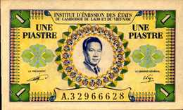 INDOCHINE Institut D'Emission  Cambodge Laos VIET NAM 1 PIASTRE 1953ND Pick 104  UNC/NEUF - Indochine