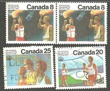 Sc. # 681-83 Olympic Ceremonies Set Used 1976 K1053 - 1952-.... Règne D'Elizabeth II