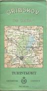 Danmark - Gribskov Og Omegn 1942 - Vorder- Und Rückseite Bedruckt - Maßstab 1:20'000 - 47cm X 85cm - Landkarten