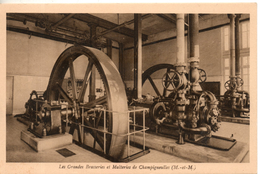 54. Champigneulles. Les Grandes Brasseries Et Malteries. Un Des Groupes Frigorifiques - Andere Gemeenten