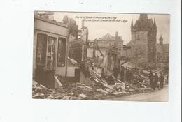HERVE 12 PRES DE LIEGE (BELGIUM) RUE DE LA STATION . STATION STREET AT HERVE NEAR LIEGE  (RUINES GUERRE 1914 1918) - Herve