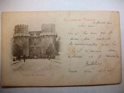 Carte Postale Espagne Recuerdo De Valencia Torres De Serranos   (CPA Dos Non Divisé Oblitéré 1901 Timbre 10 Centimes Fr) - Valencia
