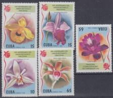 Cuba 3735/3739 ** MNH. 1998 Flores - Nuovi