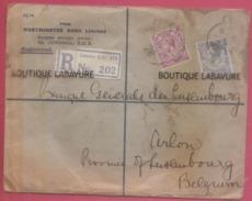 GRANDE BRETAGNE--Registered Letter-Westminster Bank Pour Banque Générale Du Luxembourg+timbre 2 Valeurs - 1902-1951 (Re)