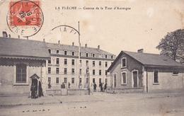 72. LA FLECHE. CPA. CASERNE DE LA TOUR D'AUVERGNE. ANNÉE 1910. - La Fleche