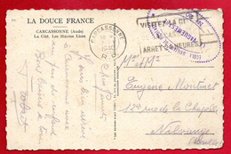 Franchise Militaire. Cachet De L'Ecole Auxiliaire De Pilotage N. 20 - Carcassonne Sur CP Carcassonne Janvier 1940 - Marcophilie (Lettres)