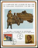 BE   2369   ---   Feuillet Souvenir  La Campagne Des 18 Jours De Mai 1940  --  Obl. Dampremy - Cartas