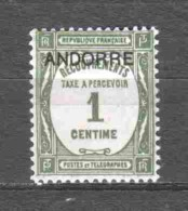 Andorra French 1931 Porto Mi 9 MNH