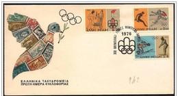 Grecia/Greece/Grèce: 2 FDC - Montreal 1976 - Estate 1976: Montreal