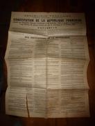 1946 CONSTITUTION De La République Française, Signé:Jacques Duclos(communiste,Pierre Cot (URR),Ferhat Abbas (UDMA),etc - Décrets & Lois