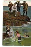 "ENGLAND, Snap Shots Of The Seaside- ""INTRUDERS"", Swim Suits, Pre-1920 Valentine Postcard - Mode"