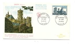 FDC France - Série Touristique - Cathédrale De Laon - Année 1960 - FDC